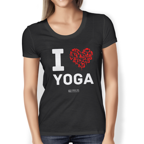 """I Love Yoga"" Ladies Tees & Tanks"