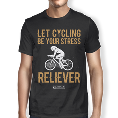 """Let Cycling Be Your Stress Reliever"" Men's Tees & Tanks"