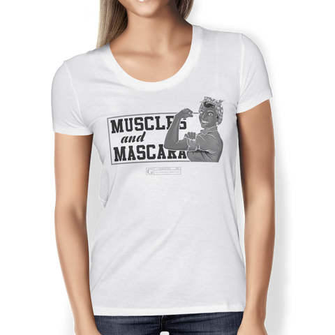 """Muscles And Mascara"" Ladies Tees & Tanks"