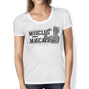 "Image of ""Muscles And Mascara"" Ladies Tees & Tanks"