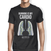 "Image of ""Running Is My Cardio Lungs"" Men's Tees & Tanks"