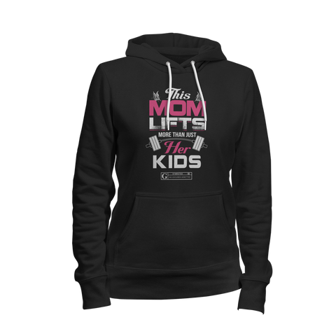 """This Mom Lifts More Than Her Kids"" Women's Long Sleeve Tees & Hoodies by GYMRATED™"