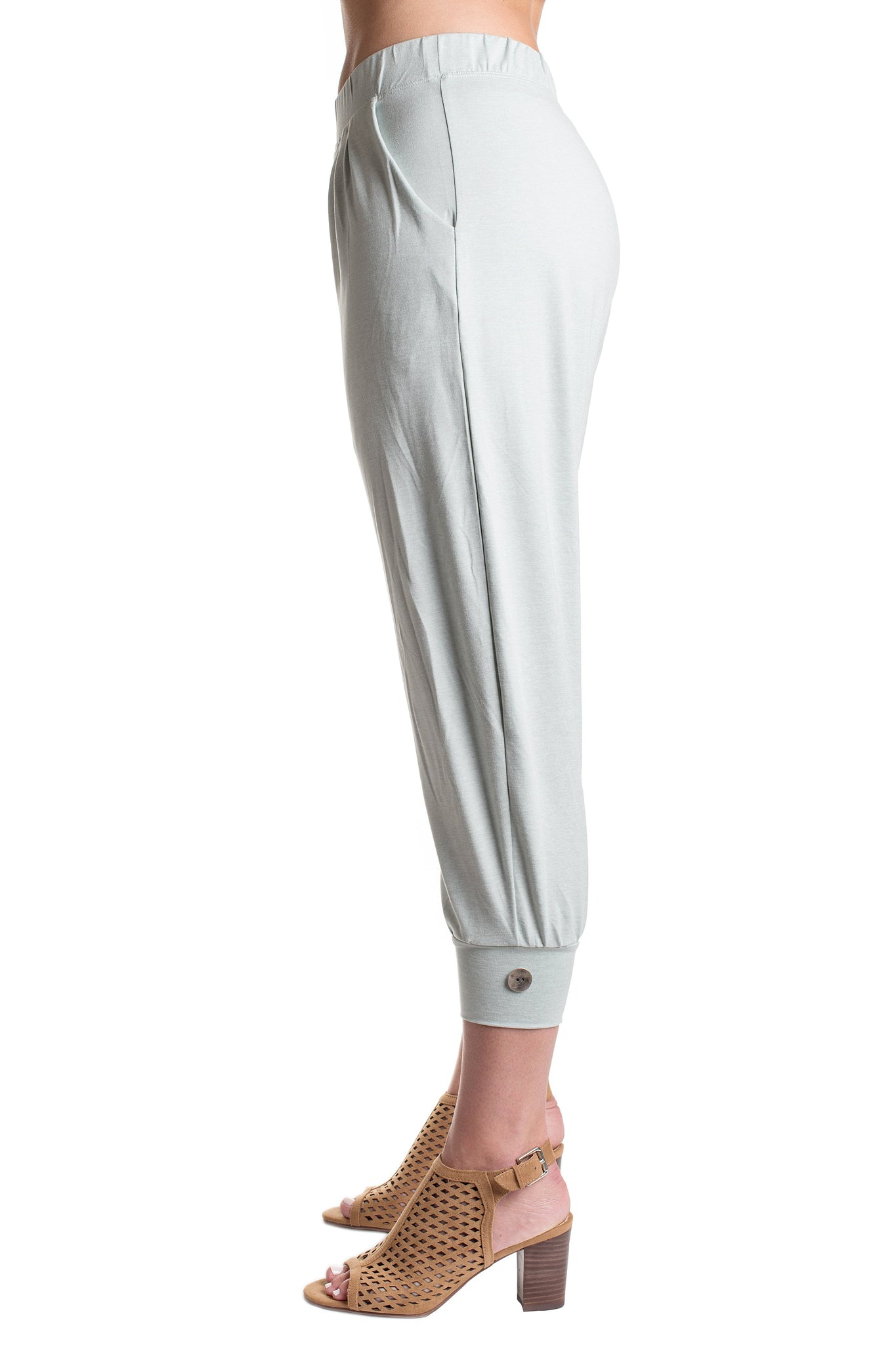Seafoam Green Cropped Pants