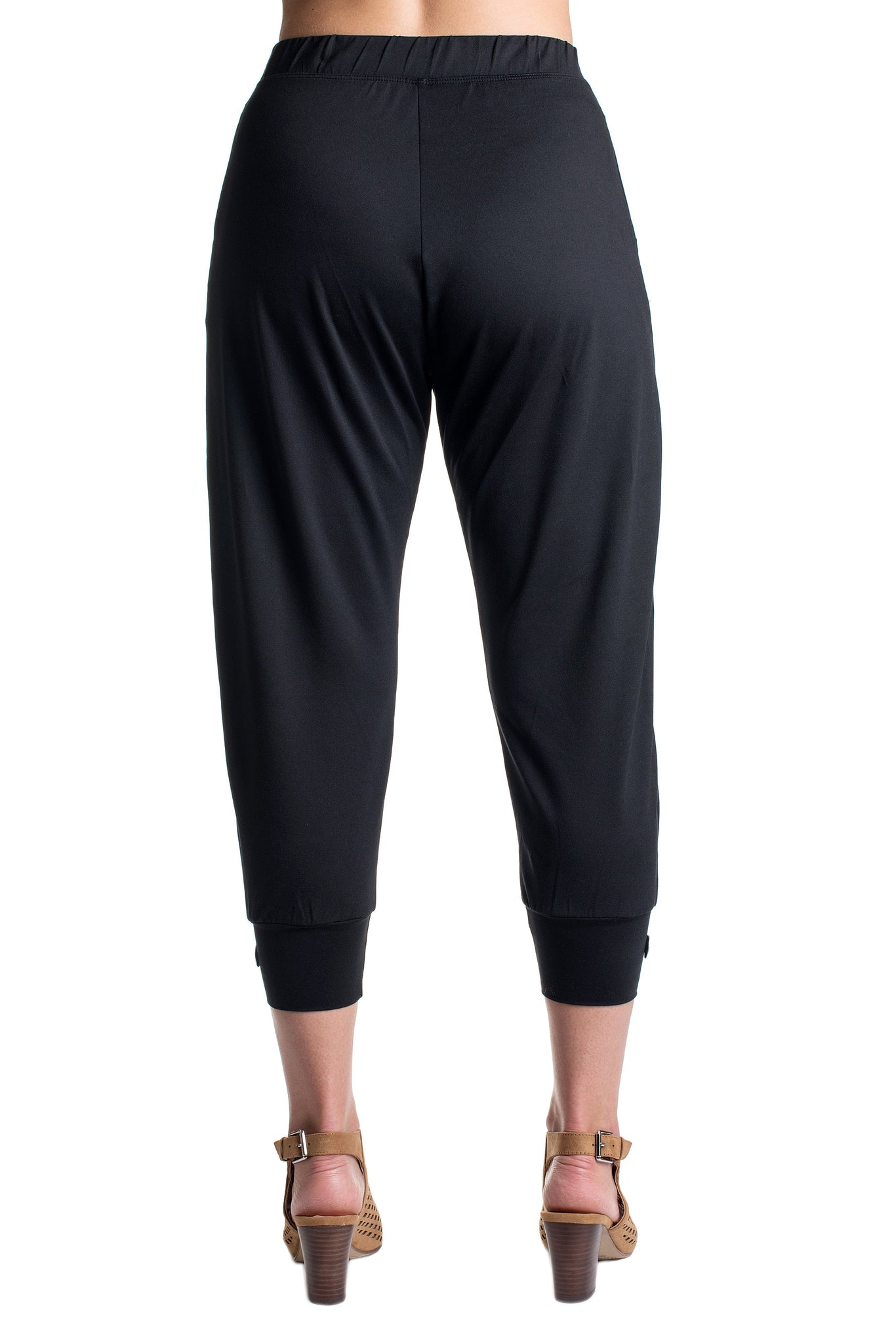 Slate Black Cropped Pants