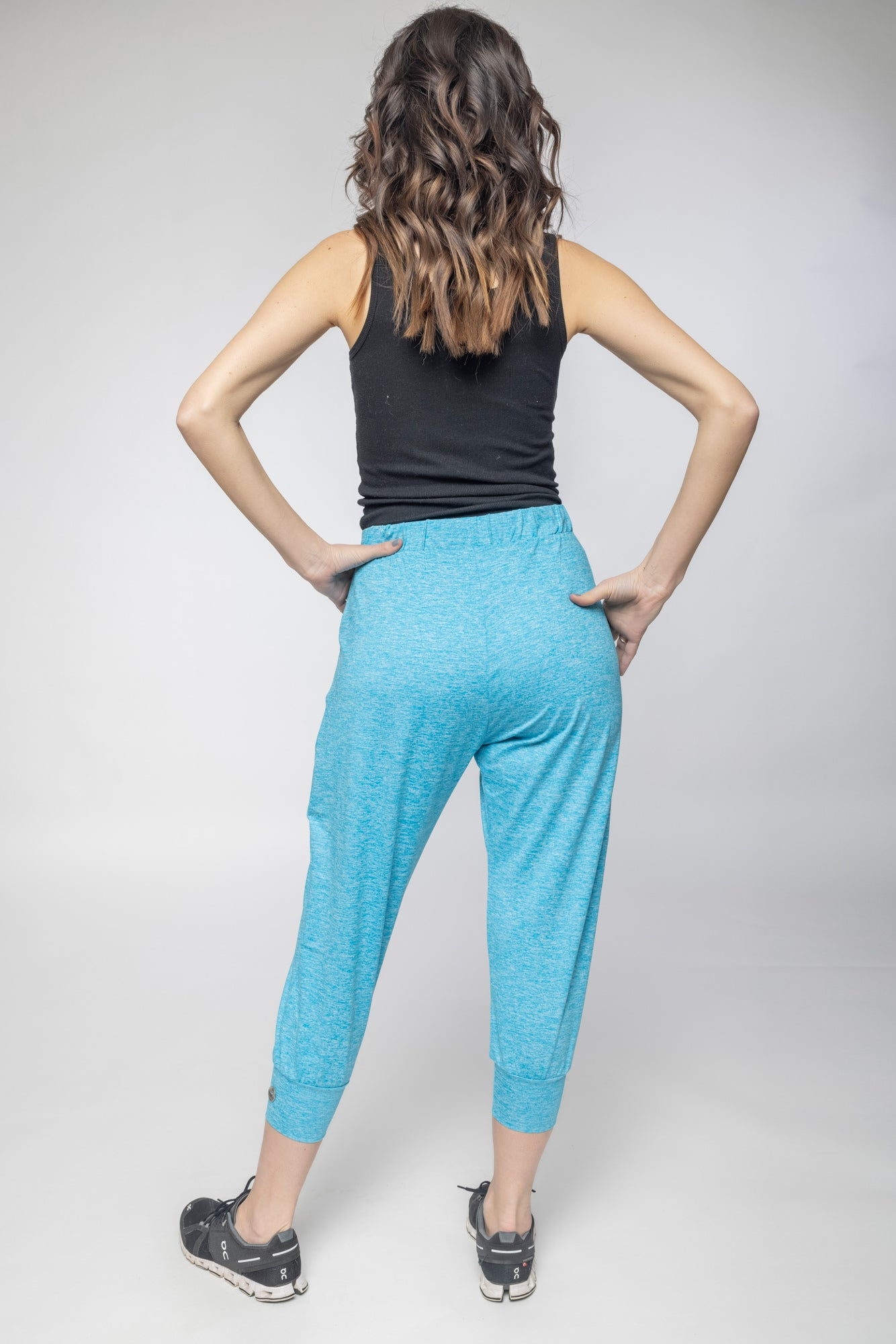 Mermaid Blue Cropped Pants