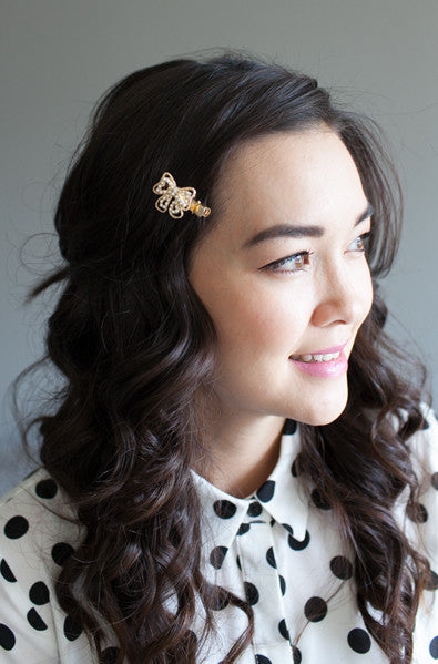 Asian fashion bow hair accessory