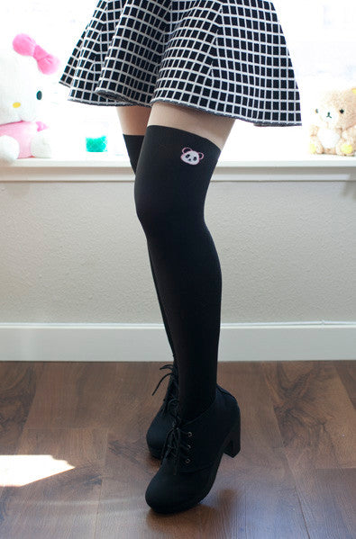 Cute asian fashion tights with panda