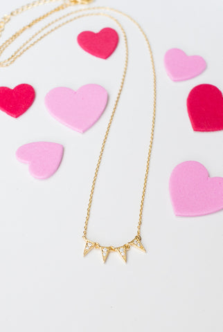 Party Time Necklace in Gold