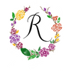 Watercolor monogram design letter R