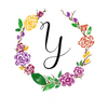 Watercolor monogram design letter Y