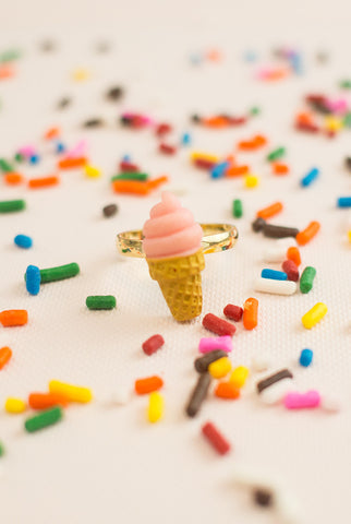 Ice Cream Obsessed Ring in Pink