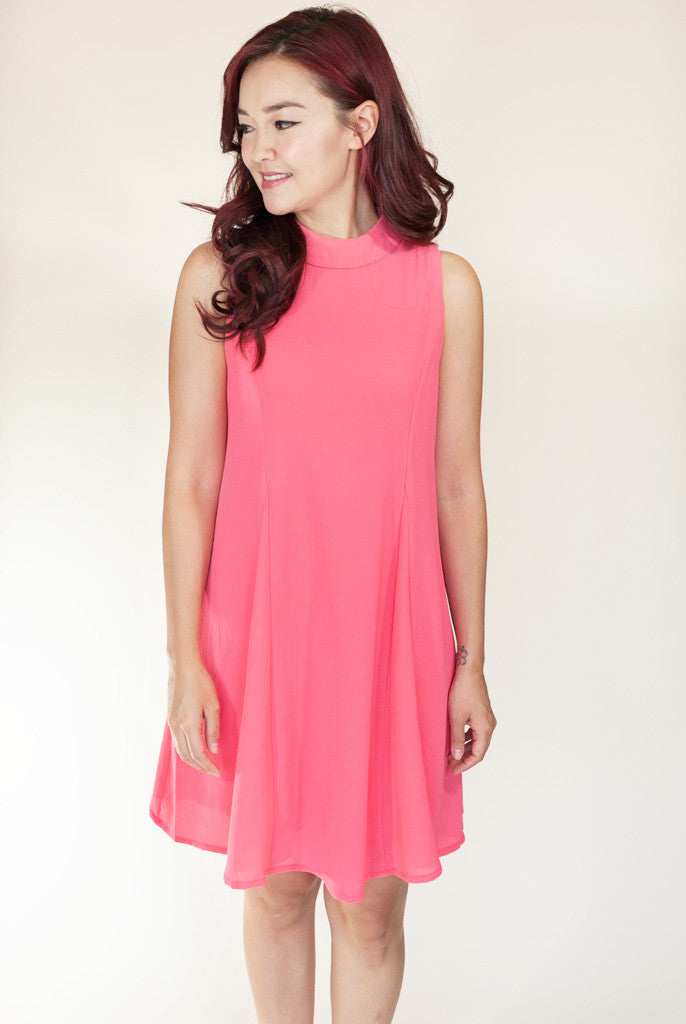 Summer Coral swing dress