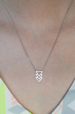 To The Point Necklace in Silver