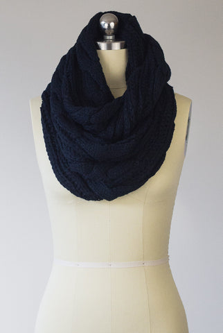 I Love You Times Infinity Scarf in Black