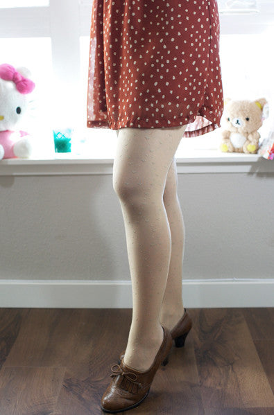 cute nude tights with hearts