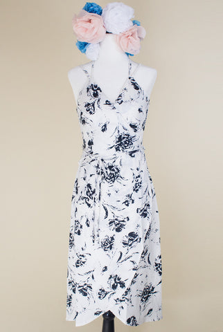 Lady Luck Black and White Floral Dress