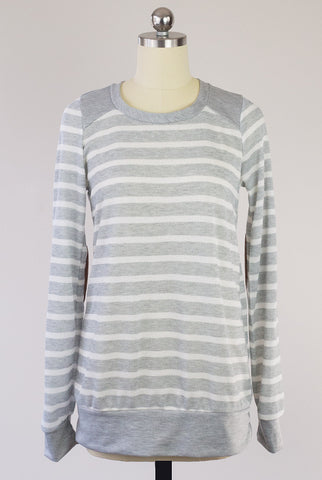 Wanderluster Striped Sweater with Elbow Patches