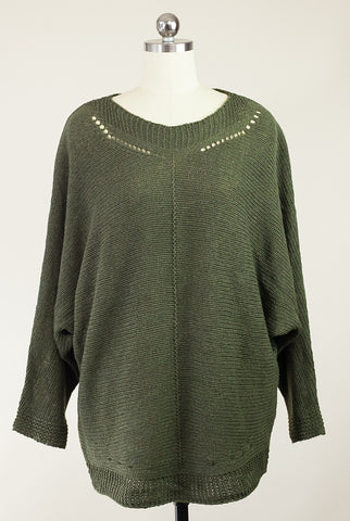 Olive You Always Dolman Sleeve Sweater
