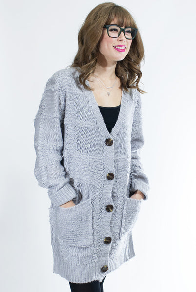 Long gray cardigan
