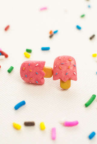 Poppin Popsicle Earrings in Pink