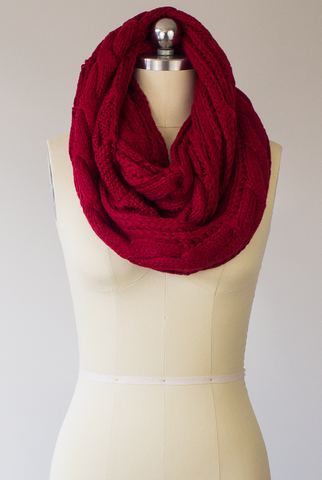 I Love You Times Infinity Scarf in Red
