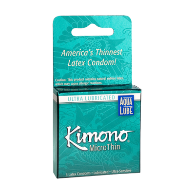Kimono Micro Thin Condom with Aqua Lube 3 Pack - Jupiter