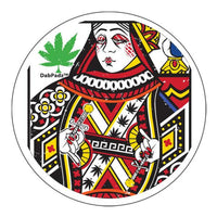 "DabPadz- 8"" Round Fabric Top 1/4"" Thick - Queen of Concentrates - Jupiter"