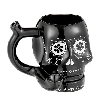 Sugar Skull Mug Pipe - Jupiter