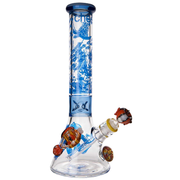 "14""  Under the Sea Beaker by Cheech Glass - Jupiter"