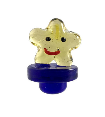 Glass Carb Cap - Happy Star - Jupiter