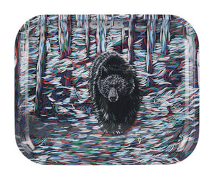 "OCB- 7.5"" x 5.5"" Small Metal Rolling Tray – Bear - Jupiter"