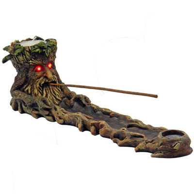 Green Man Tree W/ LED Light Eyes Incense Burner - Jupiter