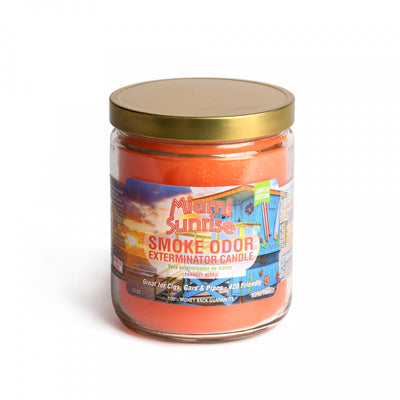 SMOKE ODOR EXTERMINATOR- Miami Sunrise Candle - Jupiter