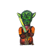 "3.75"" Yoda Jedi Master Glass Hand Pipe - Jupiter"