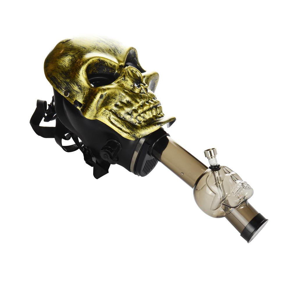 Gas Mask Skull with Acrylic Skull Water Pipe Kit - Jupiter