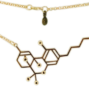 Koko & Kai Faux Gold THC Molecule Necklace - Jupiter