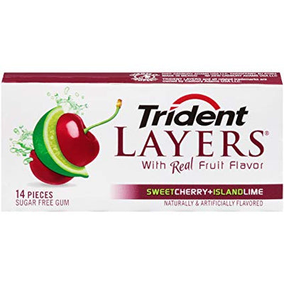 Trident Layers Sweet Cherry Island Lime 14p - Jupiter