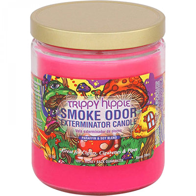 SMOKE ODOR EXTERMINATOR- 13oz Trippy Hippy Candle - Jupiter