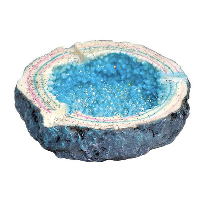Blue Crystal Ashtray - Jupiter