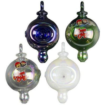 Cheech & Chong Glass Holiday Bulb Ornament Hand Pipe - Jupiter