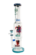 "Cheech Glass- 15"" Straight Tube W/Showerhead Heart Perc - Jupiter"