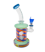 "CHEECH- 9"" Showerhead Rig W/Multi-Colour Swirl Design - Jupiter"