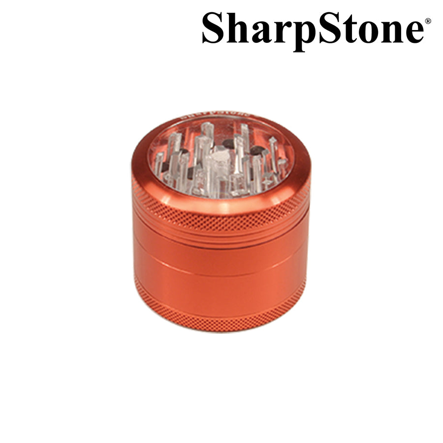 SharpStone 4 Pieces Glass Top Grinder Pollinator 2.2 Inch - Jupiter
