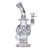 "Hydros- 10.5"" Clear Honeycomb Ball Rig Kleincycler - Jupiter"