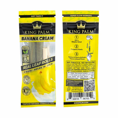 King Palm Mini Pre-Roll Pouch 2 per Pack- Banana Cream - Jupiter
