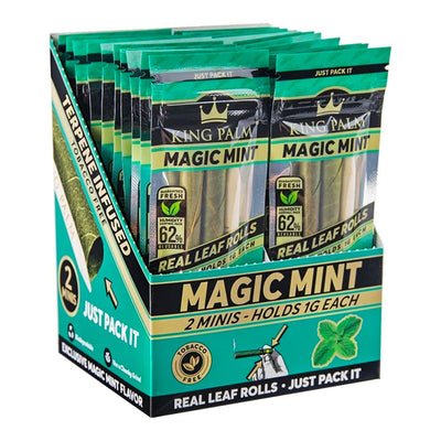 King Palm Mini Pre-Roll Pouch 2 Per Pack - Magic Mint - Jupiter