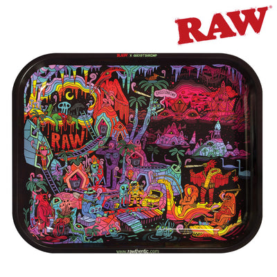 RAW GHOST SHRIMP ROLLING TRAY TIN LARGE