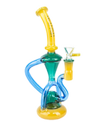 "Legendary Glass- 9"" Triple Tone Recycler - Jupiter"