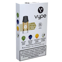Vype ePod 5% (57mg) Mixed Pack x 4pk (Polar Ice, Berry Blast, Mango Wonder, amd Vanilla Medley) - Jupiter