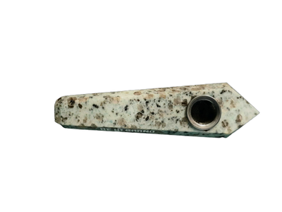 Speckled Marble Crystal Pipe - Jupiter
